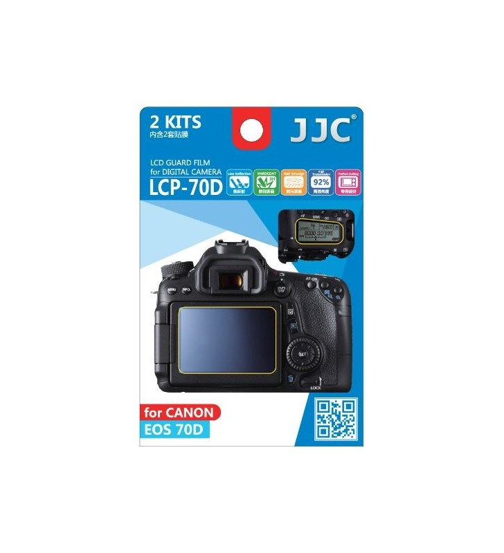 LCD Screen Protector For Canon 70D 2 Pack & Cleaning Tissues