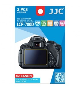 LCD Screen Protector For Canon 700D 650D 2 Pack Ultra Hard Polycarbonate