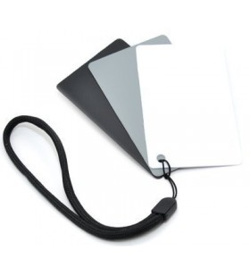 Kaavie 3 in 1 Pocket-Sized Reference Color & White Balance Grey Card With Neck Strap
