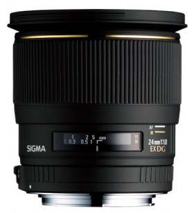 Sigma 24mm f/1.8 EX DG Aspherical Macro Large Aperture Wide Angle Lens