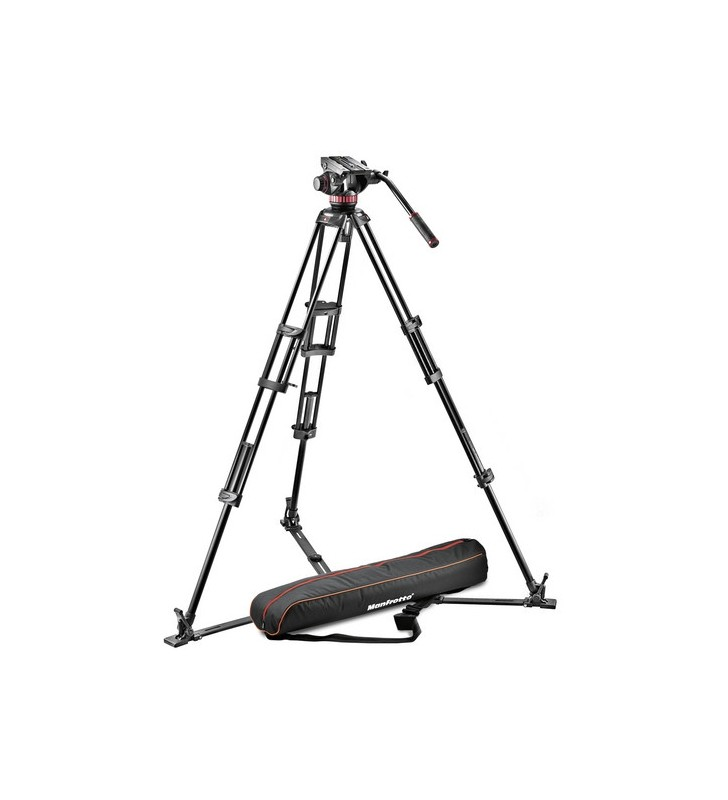MANFROTTO MVH502A Ball Base Fluid Head 546GB Tripod and Carrying Bag