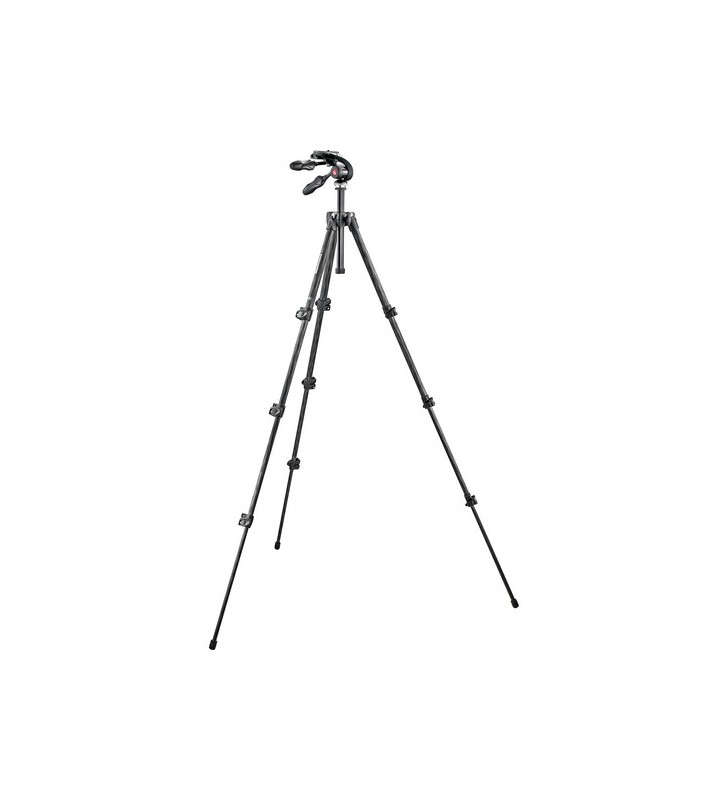 MANFROTTO Manfrotto 293 Carbon Fiber Tripod with MH293D3-Q2 3-Way Pan/Tilt Head with Folding Handles