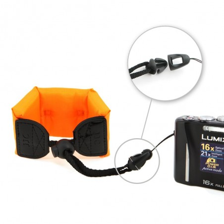 JJC ST-6O Professional Floating Foam Strap For Waterproof Digital Cameras Underwater Shooting Orange