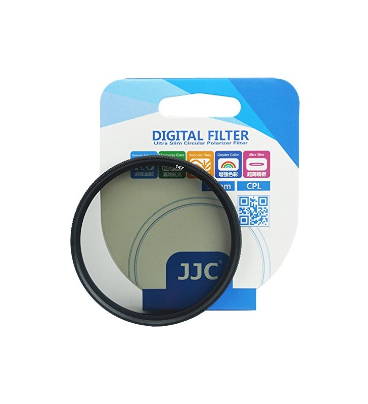 JJC F-CPL62 62mm Ultra-Thin Ultra-Slim Circular Polarizer AGC Ultra-clear Optics Optical Glass High-definition Protection CPL Fi