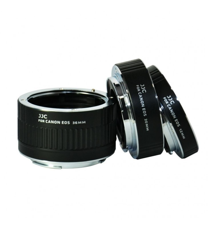 JJC AET-CS Auto Focus AF Macro Extension Tube Set 12mm 20mm 36mm for Canon EOS Rebel Cameras