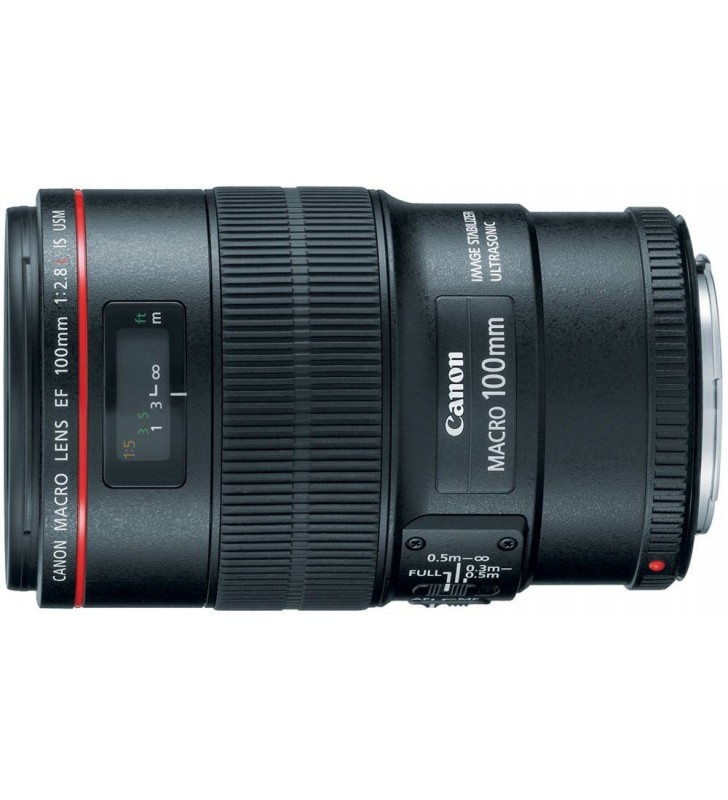 Canon EF 100mm f/2.8L Macro IS USM Macro Lens for Canon DSLR Cameras