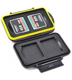 JJC MC-CF4 Rugged Water-Resistant Memory Card Case (4x CF / CompactFlash)