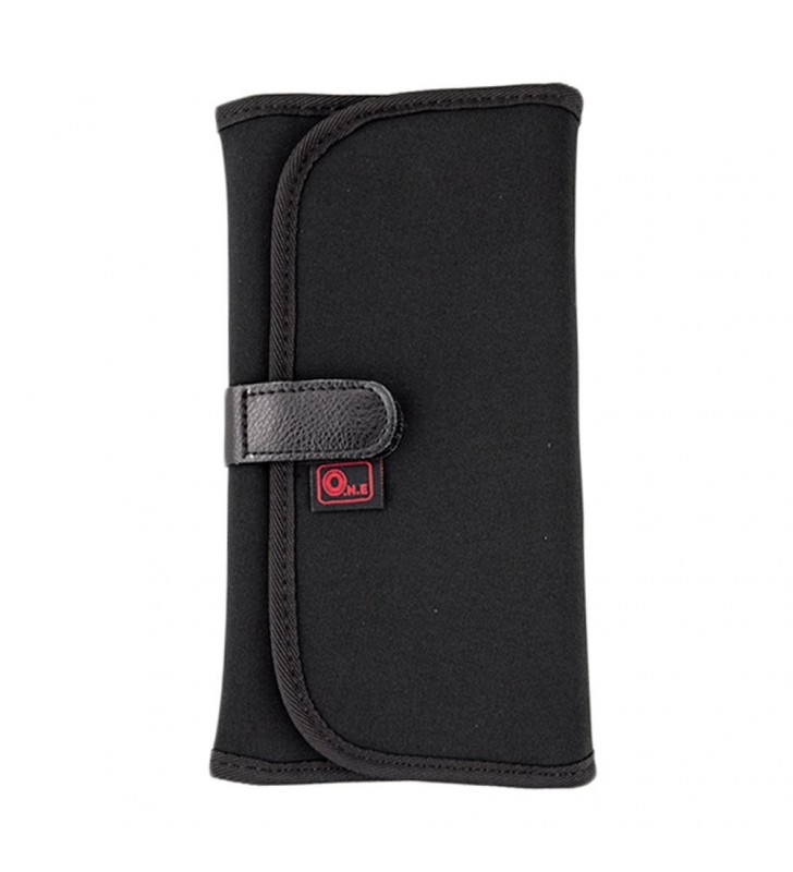 O.N.E OC-P1B Black Neoprene Wallet Pouch Case Carry Bag With 8 Pockets Slots For 25MM--82MM Filters