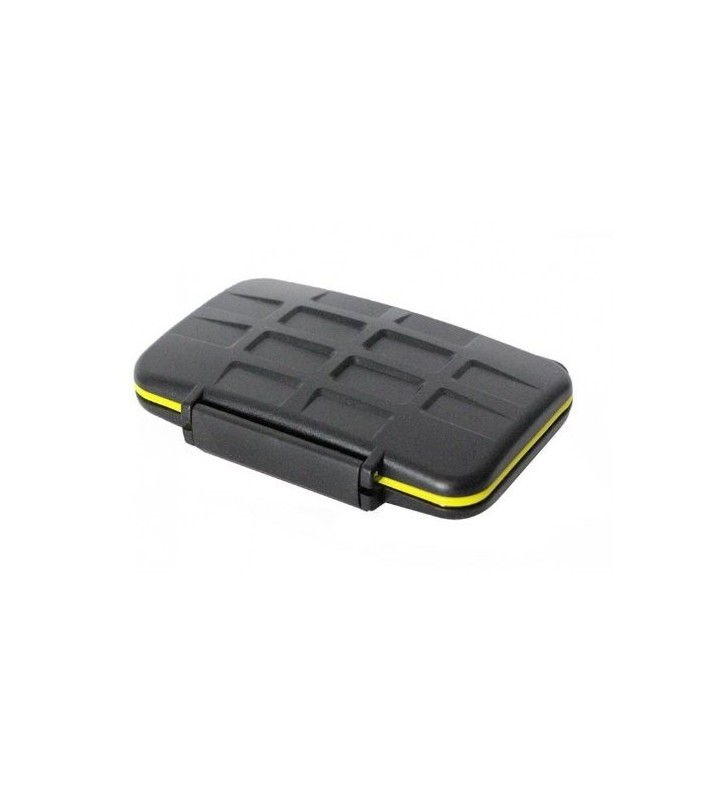 JJC MC-MSD16 Rugged Water-Resistant Memory Card Case (16x microSD Cards)