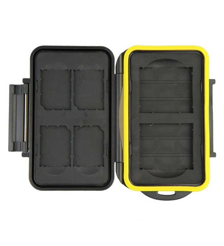 JJC MC-SD/CF6 Water-Resistant Holder Hard Storage Memory Card Case For 4 SD Cards & 2 CF Cards
