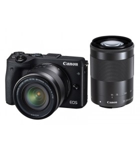 Canon EOS M3 with EF-M 18-55mm and EF-M 55-200mm Kit