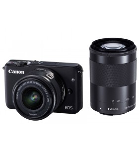 Canon EOS M10 with EF-M 15-45mm + EF-M 55-200mm