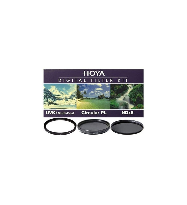 Hoya 62mm Digital Filter Kit With UV, Circular Polarizer, NDX8